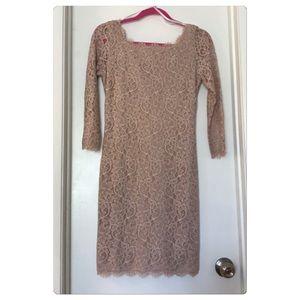 New Diane Von Furstenberg Zarita Lace Dress Nude